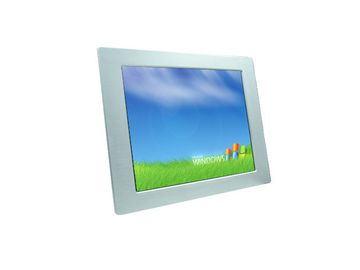 "17"" Auminium Bezel Industrial LCD Display Monitors  IP65 Grade 262k Color IR Touch"